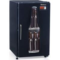 Cervejeira Porta De Vidro Com Led 120L Profissional Preto Gelopar 220V