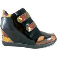 Sneaker Topgrife Couro - Feminino-Preto