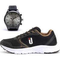 Kit Tênis Ousy Shoes Revolute Training + Relógio Dourado