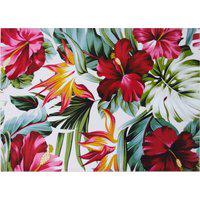 Amaro Feminino Easy Home Design Kit Jogo Americano, Tropical Vermelho