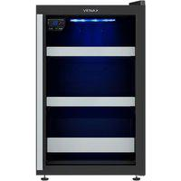 Cervejeira Blue Light 100L Preto 220V Porta De Vidro Venax