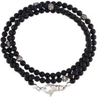 Nialaya Jewelry Pulseira De Ônix E Prata - Preto