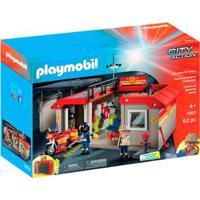 Playmobil Posto De Bombeiros Sunny - Unissex-Incolor