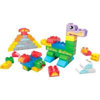 Conjunto Mega Bloks - Construtor Junior - Balde Com 60 Peças - Mattel - Unissex-Incolor