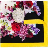 Dolce & Gabbana Lenço Com Estampa Floral - Preto