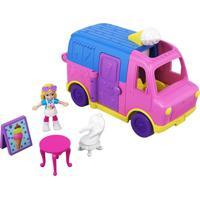 Micro Polly Pocket Pollyville Carrinho De Sorvete - Mattel