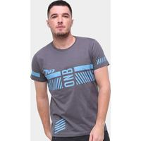 Camiseta Onbongo Stripes Masculina - Masculino-Grafite