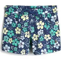 Short Marisol Menina Floral Azul - Tricae