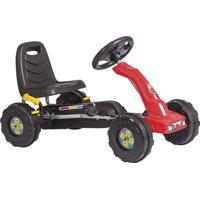 Carrinho Mini Kart Infantil Unitoys Com Pedal Vermelho