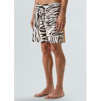 Bermuda Surf Tigre-Offwhite/Preto