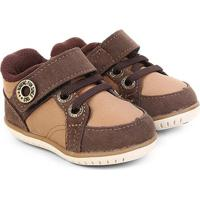 Sapato Infantil Klin Cravinho Velcro - Masculino-Marrom