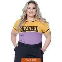 Blusa Plus Size Lilás Berthage