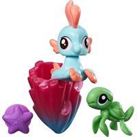 Mini Figura My Little Pony Com Acessórios - Mini Pônei Sereia - Bubble Splash - Hasbro - Feminino-Incolor