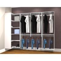Conjunto Completo Para Closet 34 Branco - Getama Moveis