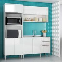 Cozinha Modulada Compacta 6 Portas E 3 Gavetas Vanguarda Branco - Urbe Móveis