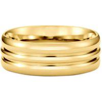 Aliança De Casamento Ouro Amarelo Love Me (6Mm)