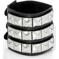 Bracelete Rebites 03 - Unissex-Preto
