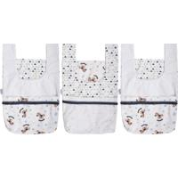 Porta Fraldas Incomfral Baby Joy Kit 3 Peças Azul Para O Enxoval