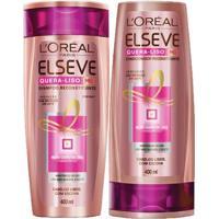 Kit Shampoo + Condicionador L'Oréal Paris Elseve Quera-Liso 230°C - Unissex