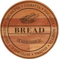 Tábua Para Pão Bisetti Madeira 30Cm - 30002