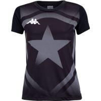 Camiseta Do Botafogo Escudo 2020 Kappa - Feminina - Preto/Cinza Esc