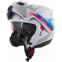 Capacete Moto Attack Branco Tamanho 60 Pro Tork