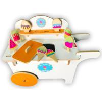 Carrinho De Sorvete Toptoy Brasil Em Madeira Ice Cream Shop Brinquedos Educativos 24 Branco