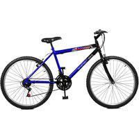 Bicicleta Master Bike Aro 26 Masculina Max Power 18 Marchas Azul E Preto