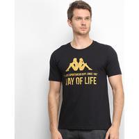 Camiseta Kappa Way Of Life Masculina - Masculino-Preto