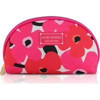 Necessaire Meia Lua Jacki Design Poliéster - Feminino-Pink