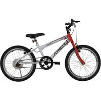 Bicicleta Aro 20 Mtb Sem Marcha Evolution Masculina Vermelha Athor Bikes