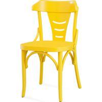 Cadeira Para Sala De Jantar - Laca Amarela - Augustine - 45X50,5X83 Cm