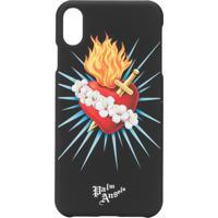 Palm Angels Sacred Heart Iphone X Case - Preto
