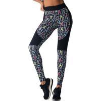 Legging Glam Fitness- Preta & Branca- Hipkinihipkini