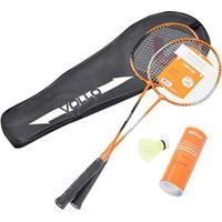 Kit Badminton 2 Raquetes + 3 Petecas Vollo