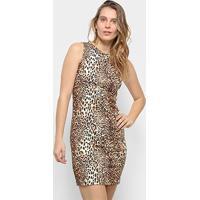 Vestido Aura Tubinho Onça - Feminino-Onça