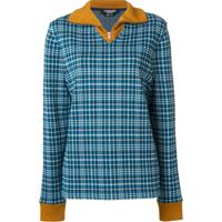Calvin Klein 205W39Nyc Suéter Xadrez - Azul