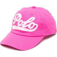 Ralph Lauren Kids Boné Com Logo Bordado - Rosa