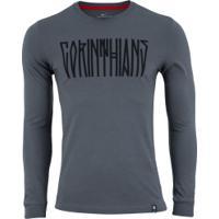 Camiseta Manga Longa Do Corinthians Story 2019 Nike - Masculina - Cinza Escuro