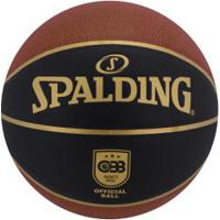Bola De Basquete Spalding Tf-Elite Tournament Size 7 - Laranja Esc/Preto