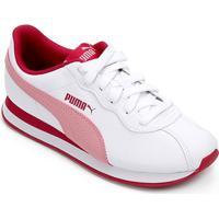 Tênis Infantil Puma Turin Ii - Unissex-Branco+Pink