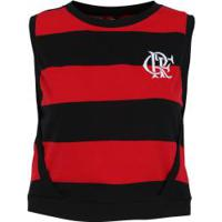 Blusa Cropped Do Flamengo Little - Feminina - Preto/Vermelho