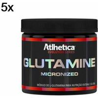 Kit 5X Glutamine Micronized Evolution Series Atlhetica Nutrition - 300G - Masculino