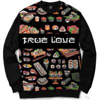 Blusa Bsc True Love Full Print - Masculino-Preto