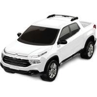 Carrinho Roda Livre - Pick Up - Fiat Toro - Branco - Roma Jensen