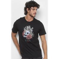 Camiseta Lost Deep Sea Skull Masculina - Masculino-Preto