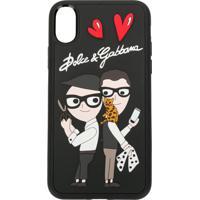 Dolce & Gabbana Capa Para Iphone X Com Patch - Preto
