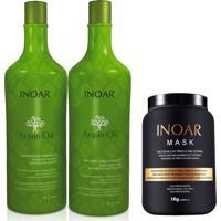 Kit Inoar Argan Oil Shampoo Condicionador 1 L 1 Kg