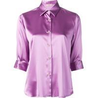 Blanca Camisa Com Botões - Roxo