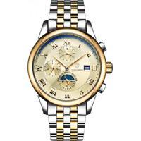 Relógio Tevise 9008 Masculino Automático Pulseira De Aço Inoxidável - Dourado